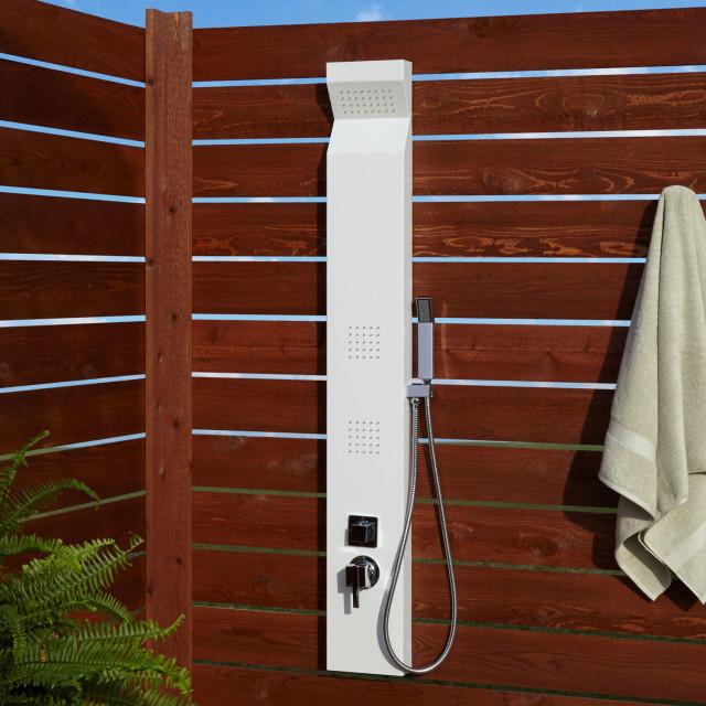 Signature Hardware 400734 Richardson Thermostatic Outdoor Shower Panel with Sho