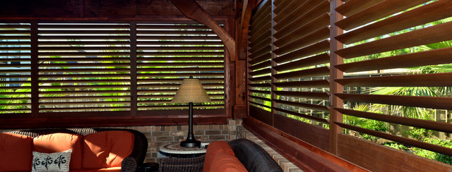 Aluminum Exterior Plantation Shutters. - Modern - Deck - Denver - by ...