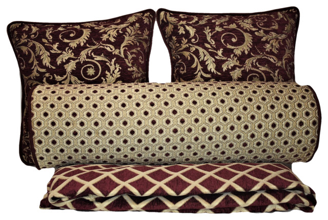 Bedroom Pillow Set With Blanket Contemporary Bed Pillows By Just The Right Pillow Houzz