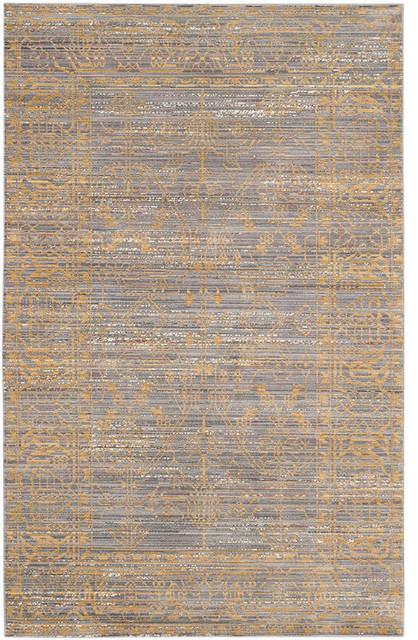 Safavieh Valencia Rug, Gray And Gold, 5u0027x8u0027 Contemporary Area