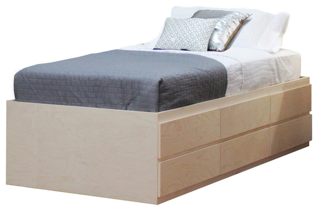 Twin Storage Bed with 6 Drawers - Contemporary - Bed Frames - by ...