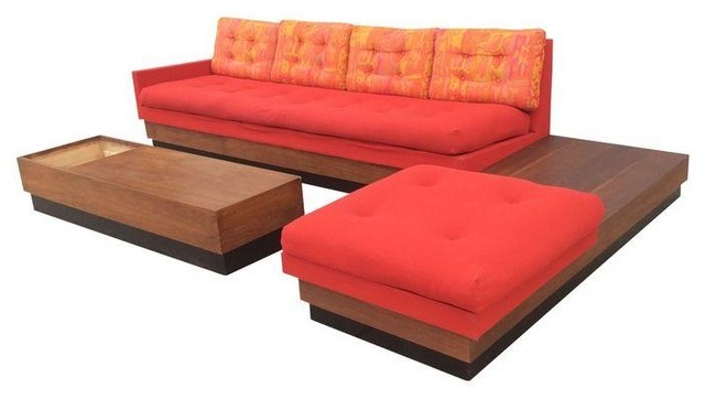 Adrian Pearsall L Shape Platform Sofa U0026 Table Set