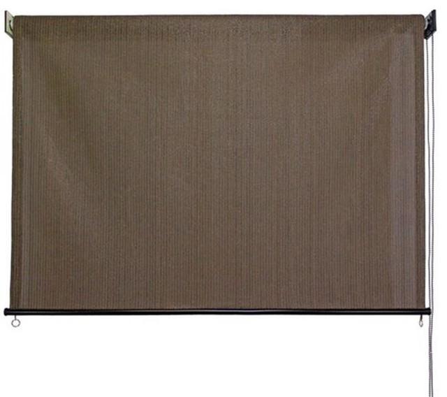 """Keystone Fabrics Non-Valanced Exterior Corded Sunshade, Cabo Sand, 96""""x72""""."""