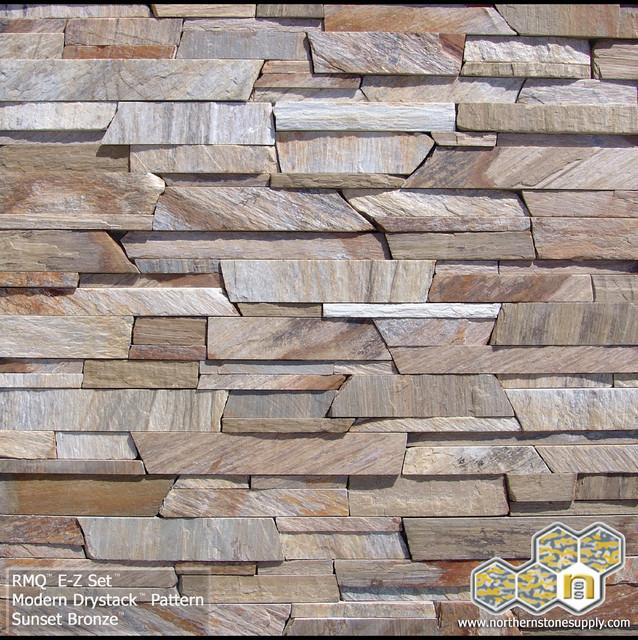 Modern Stone Veneer : Modern dry stack™ quot pattern sunset bronze