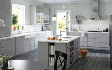 paint color to go with ikea bobdyn gray cabinets