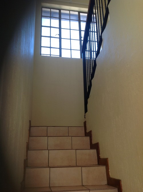 Staircase curtains pls pls help for Stairs window design exterior