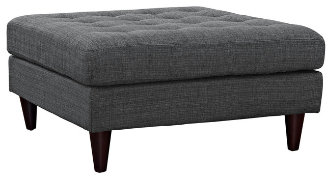 Tremendous Upholstered Large Ottoman In Gray Machost Co Dining Chair Design Ideas Machostcouk