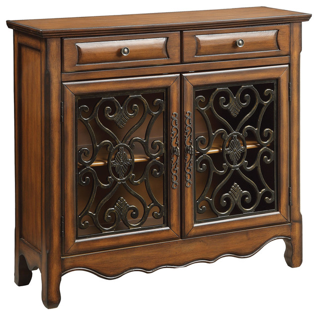 Accent Cabinets Traditional Accent Cabinet In Brown Finish.