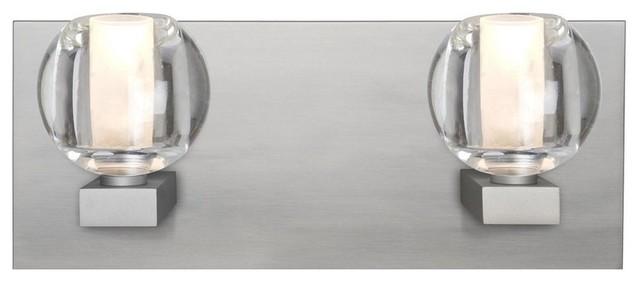 Clear Cloche Glass Bath Light 3 Light: Boca 3 2-Light Bath Vanity Clear Bubble Glass