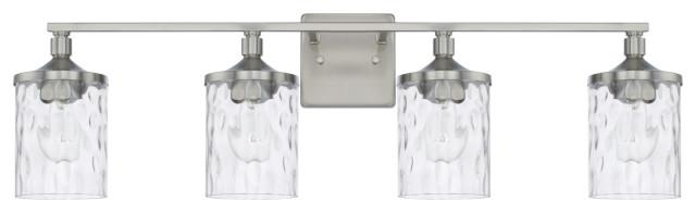 Homeplace / Colton 128841BN-451 4 Light Vanity Fixture - Brushed Nickel