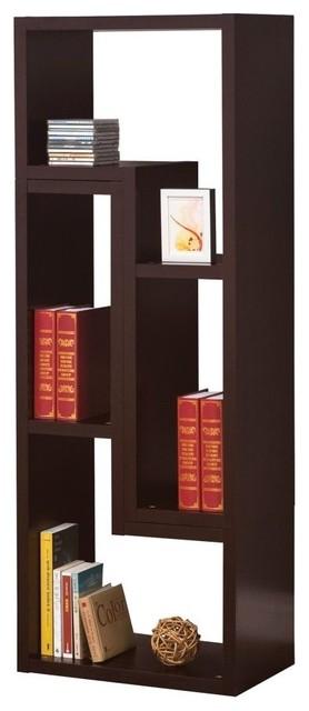 Coaster Bookcase, Cappuccino.