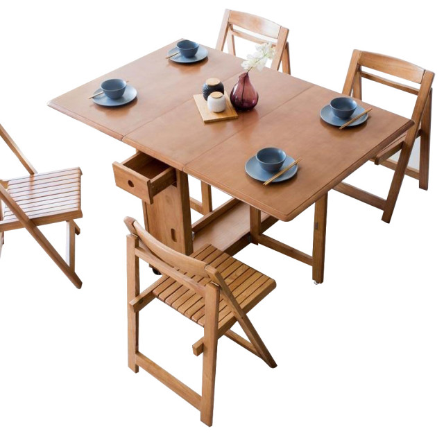 58 Rectangle Space Saving, Wooden Folding Dining Room Chairs