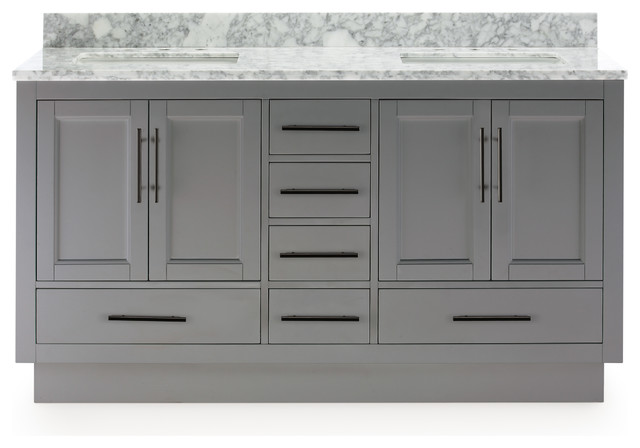 Kendall Vanity With Plinth Base, Gray, 60""