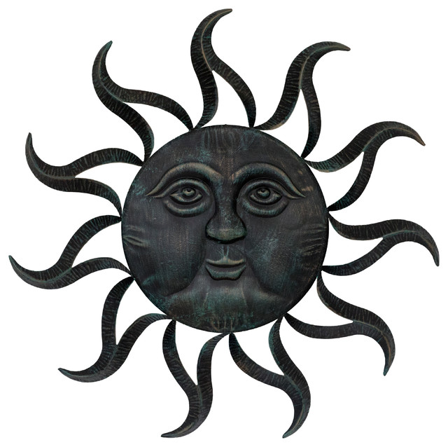 Wrought Iron Sun Wall Decor.