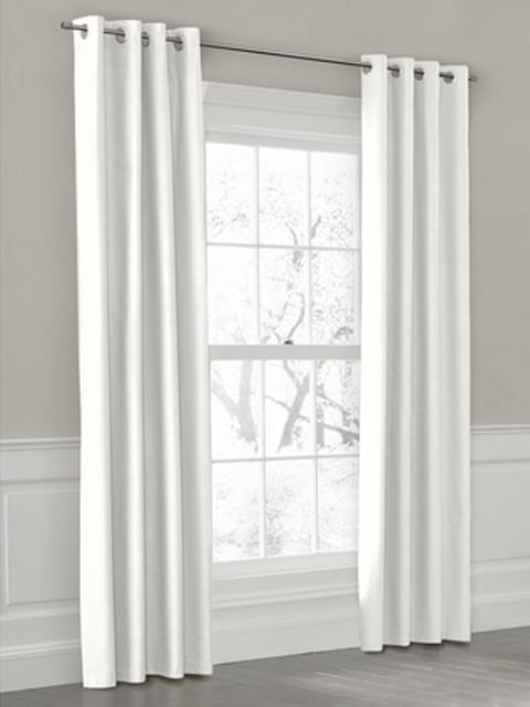 White Grommet Drapery Panel Modern Curtains New York