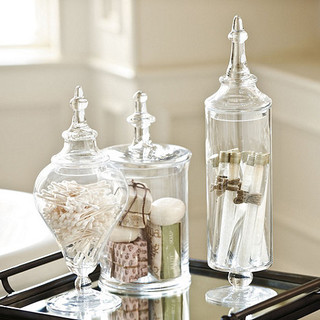 Set Of 3 Gl Apothecary Jars Traditional Bathroom Accessories By Ballard Designs