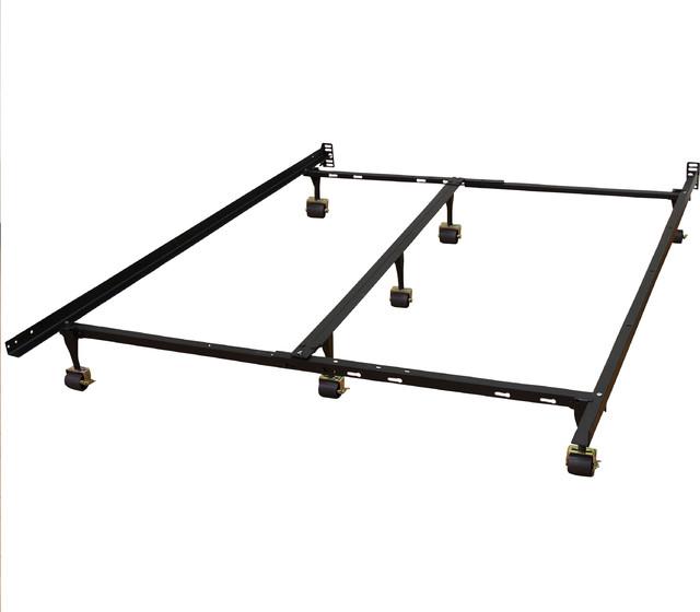 Zora Adjustable Metal Bed Frame - Transitional - Bed Frames - by ...