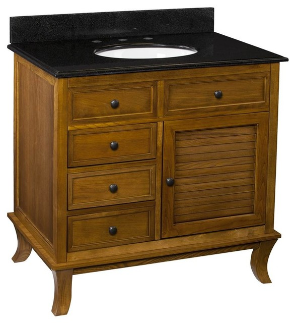 Wallingford Bath Vanity Warm Weathered Oak Finish
