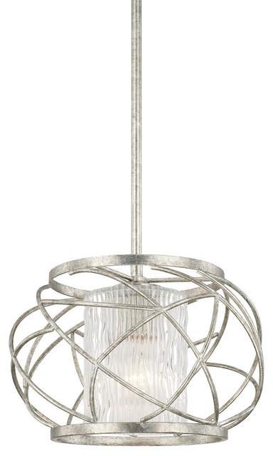 Capital Lighting 310611as-301 Riviera Antique Silver Pendant.