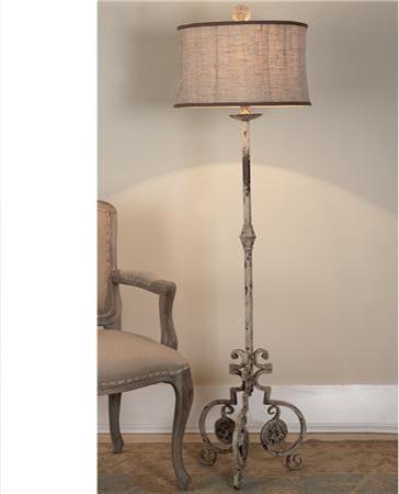 Shabby Iron Scroll Floor Lamp Shades Of Light