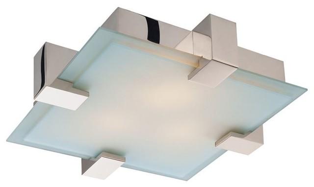 Sonneman Lighting 3680.01 Dakota Flush Mount In Polished Chrome.