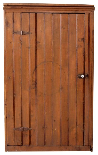 Consigned, Antique Beadboard Cabinet - Rustic - Pantry ...