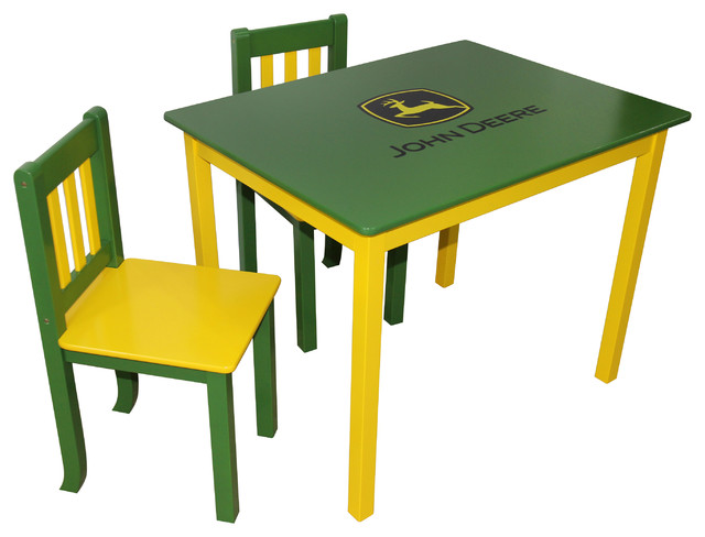 John Deere Table And Chair Set, Pink, Green/Yellow