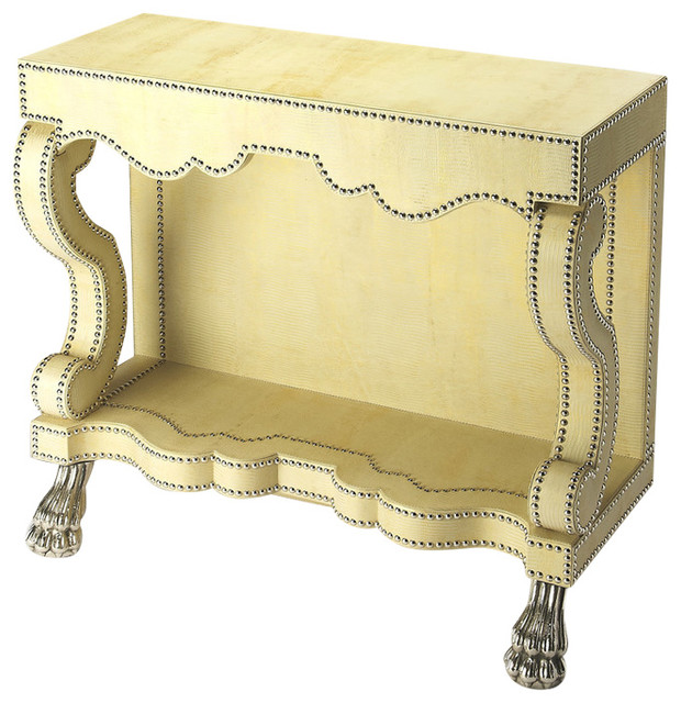 Butler Bonino Cosmopolitan Leather Console Table Eclectic Console Tables