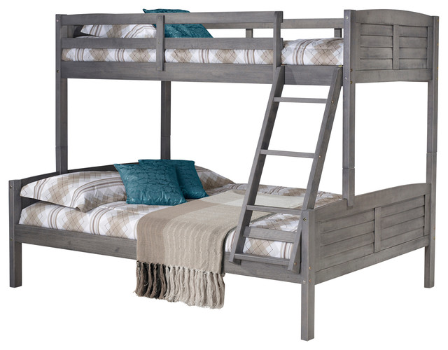 Donco Kids Louver Bunk, Twin Over Full
