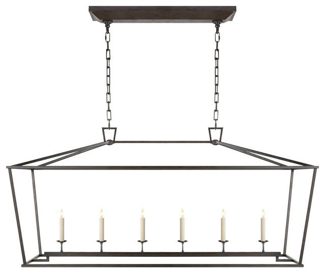 Perfect E.F. Chapman Darlana 6 Light Linear Pendant, Aged Iron/Wax Transitional  Pendant Design Inspirations