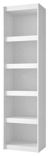 Accentuations Valuable Parana Bookcase 2.0 With 5-Shelves, White.
