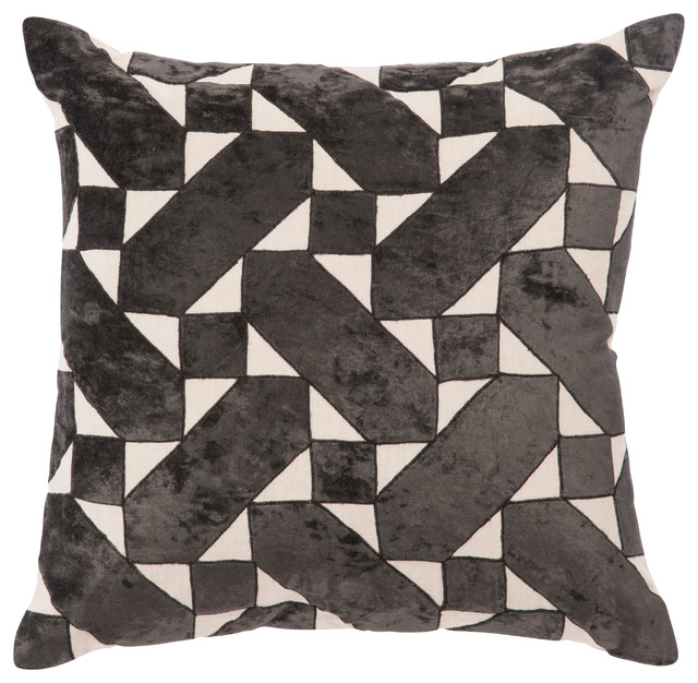 "Nikki Chu By Jaipur Living Danceteria Black/ivory Poly Throw Pillow 22""."