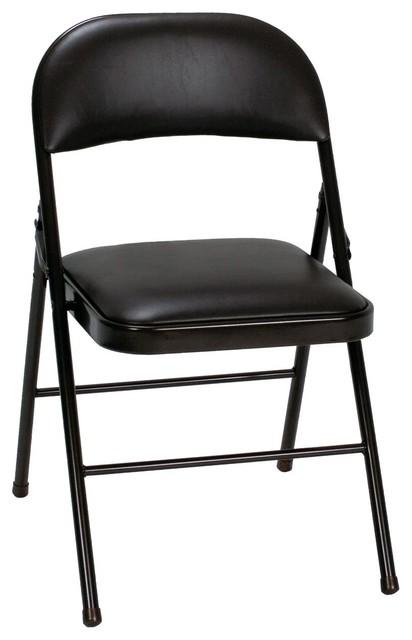 Miraculous Cosco Cosco Cosco Vinyl Folding Chair Black 4 Pk Machost Co Dining Chair Design Ideas Machostcouk
