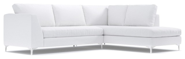 Mulholland 2-Piece Sectional Sofa, White, Chaise on Left