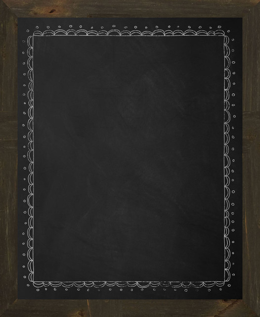 Rainbow Bordered Chalkboard Rustic Bulletin Boards And