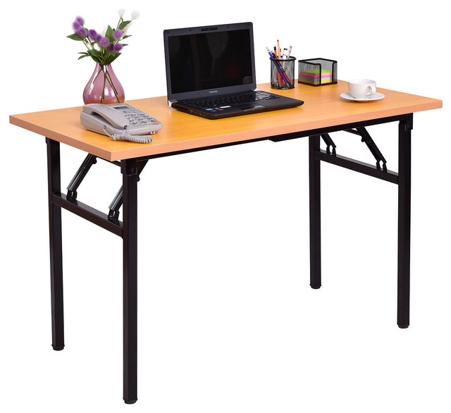 new style a9ae2 d00ea Costway Folding Computer Desk PC Laptop Table Writing Workstation Home  Office