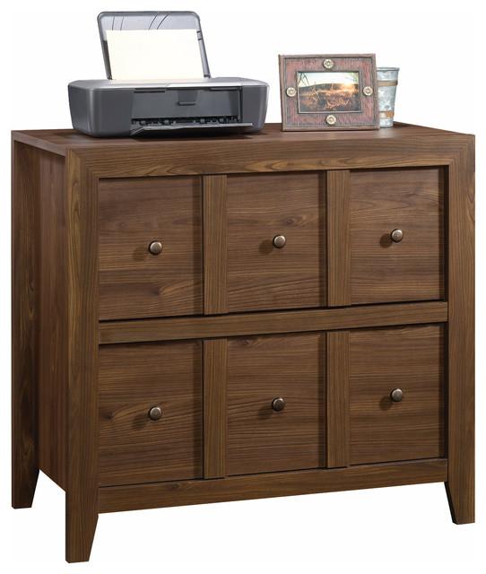 Sauder Dakota Pass 2-Drawer File Cabinet TV Stand, Chalked Chestnut - Transitional ...