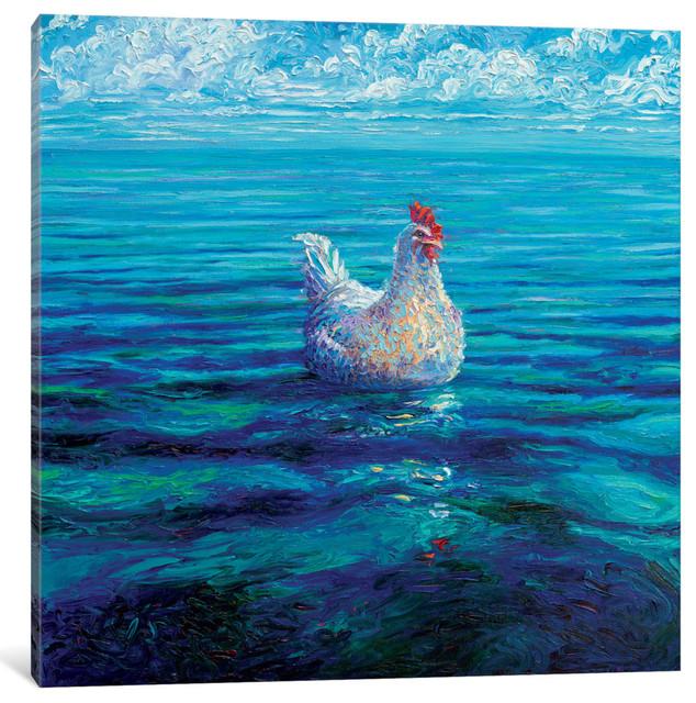 """Chicken Of The Sea Gallery"" by Iris Scott, 18""x18""x0.75"""