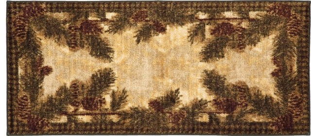 "Floral Multi-Color Rug, 20""x44"", Cozy Cabin Cc5265."