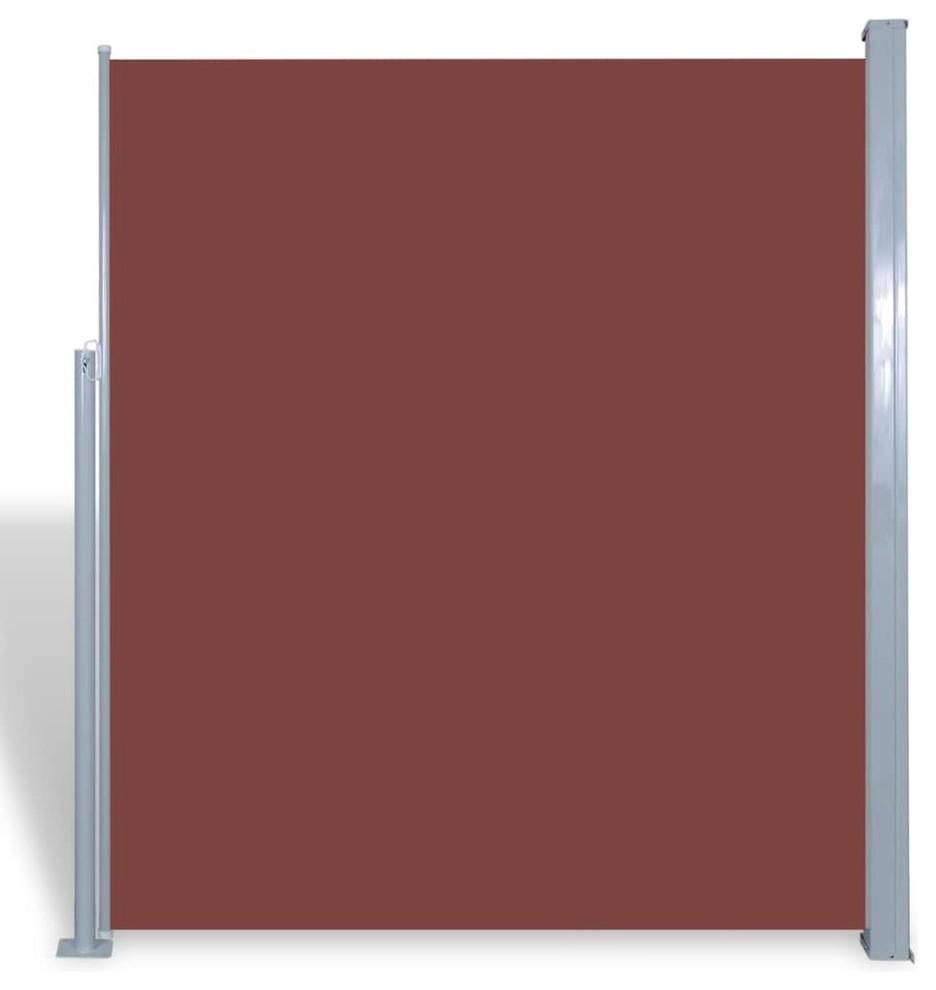 vidaXL Retractable Side Awning 180x600cm Brown Privacy Windscreen Sunshade