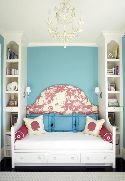 daybed w/shelves  bedroom