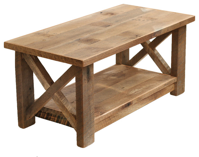 Farmhouse Coffee Table X Made From Reclaimed Wood Tables By Grindstone Design