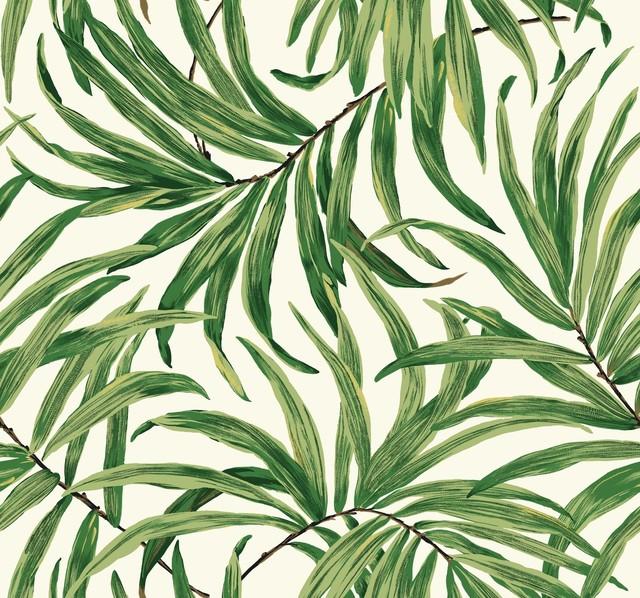 York-Wallcoverings-AT7071-Tropics-Banana-Leaf-Wallpaper-Black-Green-Removable