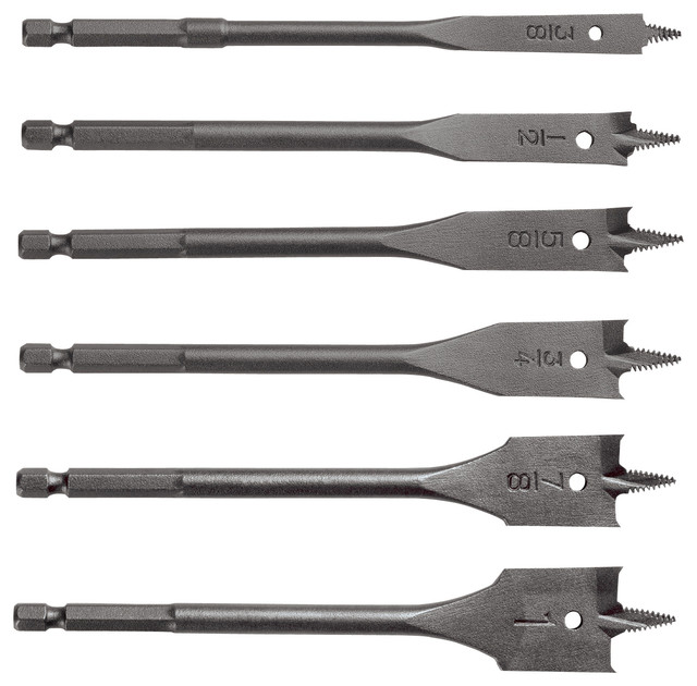 Vermont American 6-Piece Assorted Wood Drill Bit Set