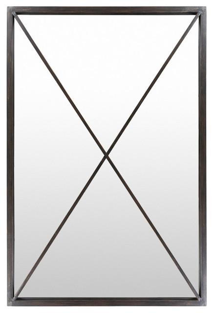 Forge Floor Mirror Industrial Wall, Wall Mirror 40 X 60