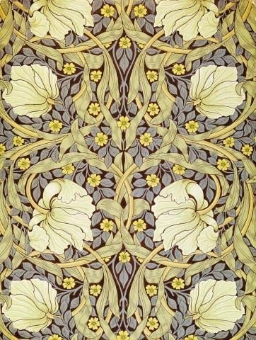 Fine Art Murals Pimpernell Wallpaper Design By William Morris   24 Inches H  Victorian Wall Part 92