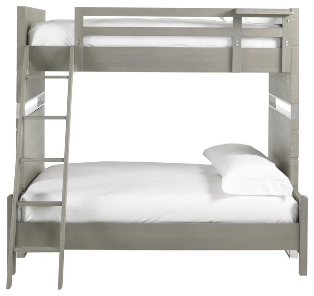 Contemporary Bunk Beds urban retreat twin over full bunk bed - contemporary - bunk beds