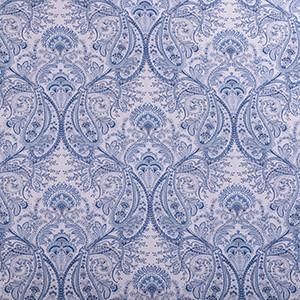 Designer Roman Shades Plain Fold, 30wx92h, Frost Blue.