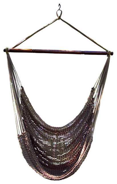 phat tommy handwoven polyester rope hammock chair swing mocha beachstyle hammocks