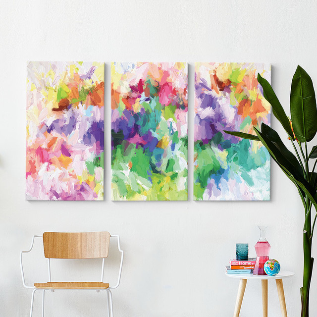 Charmant Rainbow Bright Triptych Wall Art Contemporary